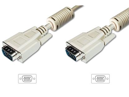 Kabel połączeniowy VGA Typ DSUB15/DSUB15, M/M beżowy 5m AK-310103-050-E