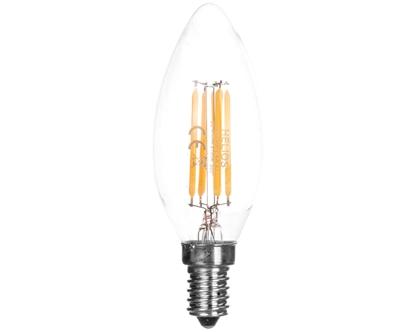 Żarówka LED filament świecowa 230V 4W E14 470lm C35 2700K 25000h LED-2722