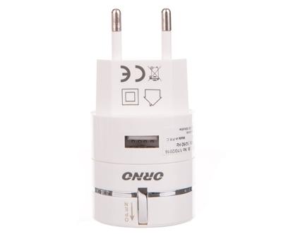 Ładowarka USB 1000mA 3w1 z automatycznie zwijanym kablem OR-AE-1389