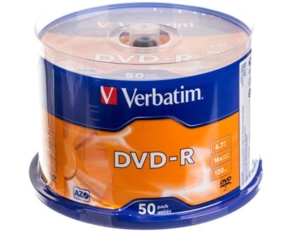 Płyta DVD-R VERBATIM 4,7GB x16 MATT SILVER /CAKE 50szt./