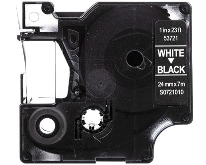 Taśma do drukarek D1 24mm x 7m biały/czarny S0721010