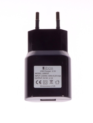 Ładowarka sieciowa USB 2,1A LB0059 LIBOX
