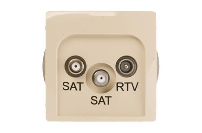 Simon Basic Gniazdo antenowe SAT/SAT/RTV końcowe beżowe BMZAR+SAT3.1-P2.01/12