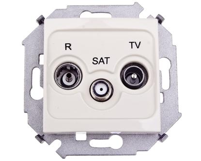 Simon 15 Gniazdo antenowe R/TV/SAT końcowe beżowe 1591466-031