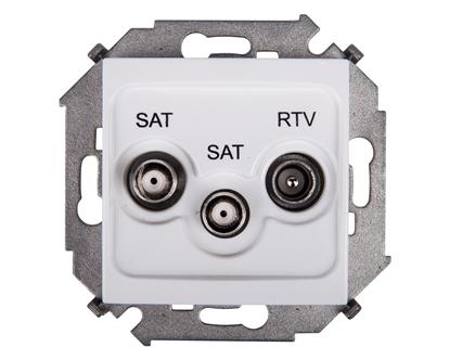 Simon 15 Gniazdo antenowe RTV/SAT/SAT końcowe białe 1591038-030