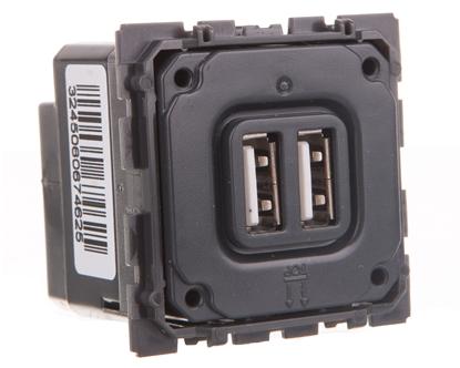 CELIANE Gniazdo zasilające podwójne USB 5V 1500mA 067462