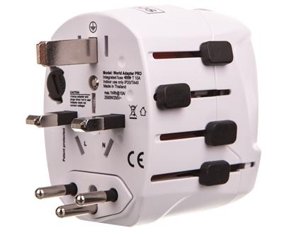 Adapter podróżny - uniwersalny 100V-250V 10A P0056