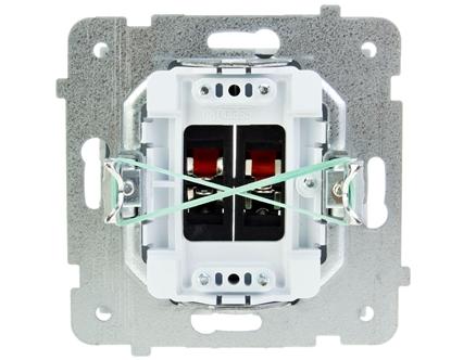 AS Gniazdo głośnikowe podwójne białe GG-2G/m/00