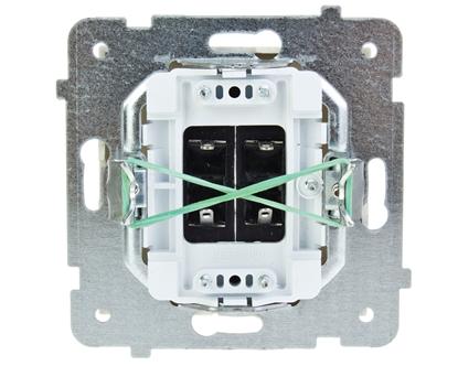 AS Gniazdo głośnikowe podwójne ecru GG-2G/m/27