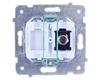AS Gniazdo antenowe pojedyncze typu F białe GPA-1GF/m/00