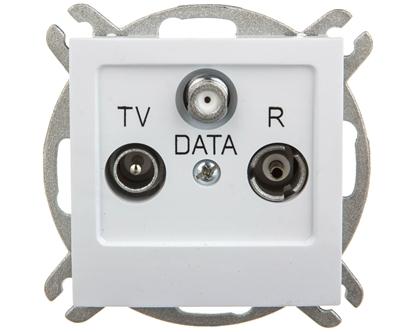 AS Gniazdo antenowe RTV DATA białe GPA-GD/m/00