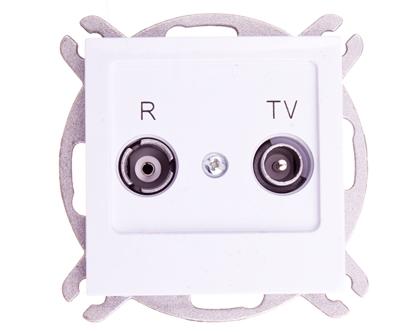 AS Gniazdo antenowe RTV końcowe 2,5-3dB białe GPA-GK/m/00
