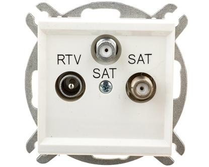 SONATA Gniazdo antenowe RTV-SAT-SAT ecru GPA-R2S/m/27