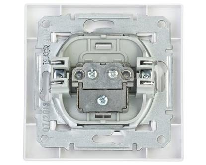 ASFORA Gniazdo antenowe TV przelotowe 8dB białe EPH3200321