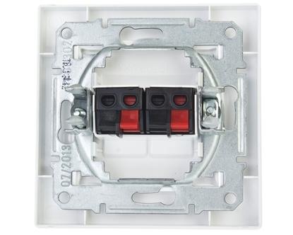 ASFORA Gniazdo głośnikowe podwójne białe EPH5700121