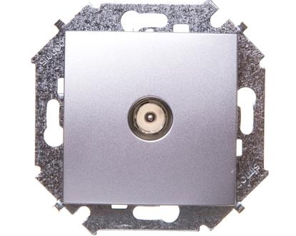 Simon 15 Gniazdo antenowe TV aluminium metalizowane 1591475-026