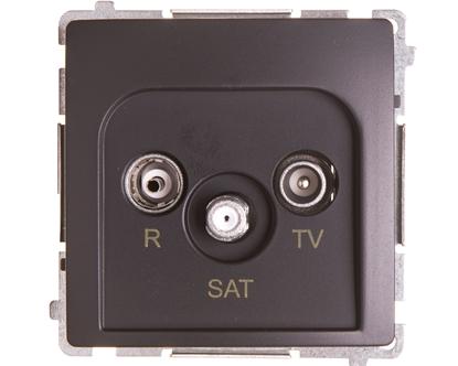 Simon Basic Gniazdo antenowe RTV/SAT końcowe grafit matowy BMZAR-SAT1.3/1.01/28