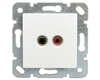 KARRE Gniazdo głośnikowe konektor 2xchinch białe 90967037