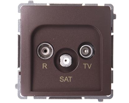 Simon Basic Gniazdo antenowe RTV/SAT końcowe czekoladowy BMZAR-SAT1.3/1.01/47