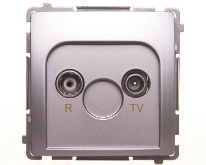 Simon Basic Gniazdo antenowe R-TV końcowe, separowane srebrny mat BMZAR1/1.01/43