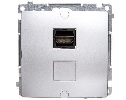 Simon Basic Gniazdo HDMI pojedyncze srebrny mat BMGHDMI.01/43