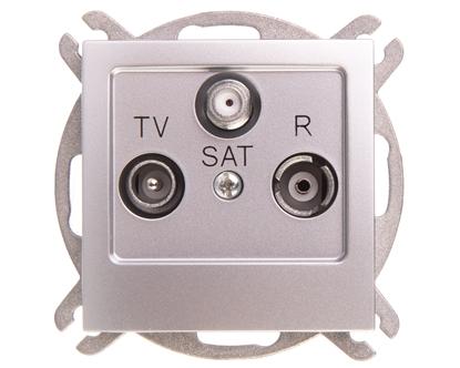AS Gniazdo antenowe RTV-SAT końcowe srebro GPA-GS/m/18