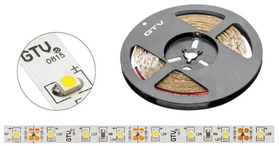 Taśma FLASH 3528 300 LED ciepły biały 24W bez żelu 8mm rolka 5m LD-3528-300-20-CB