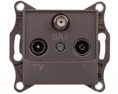 ASFORA Gniazdo R-TV-SAT przelotowe (4dB) bez ramki stal EPH3500262
