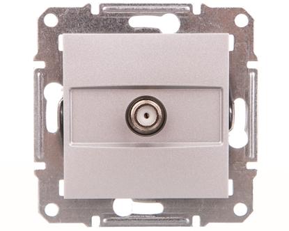 ASFORA Gniazdo SAT końcowe bez ramki aluminium EPH3700161