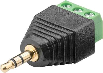 Wtyk jack 3,5mm (3-pinowy, stereo) - mocowanie śrubowe 76745 /10szt./