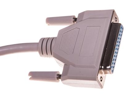 Kabel przedłużający LPT 1:1 Typ DSUB25/DSUB25, M/Ż beżowy 3m AK-610201-030-E
