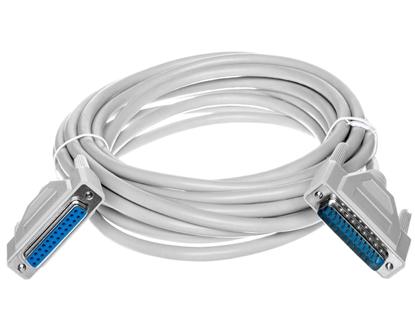 Kabel przedłużający LPT 1:1 Typ DSUB25/DSUB25, M/Ż beżowy 5m AK-610201-050-E