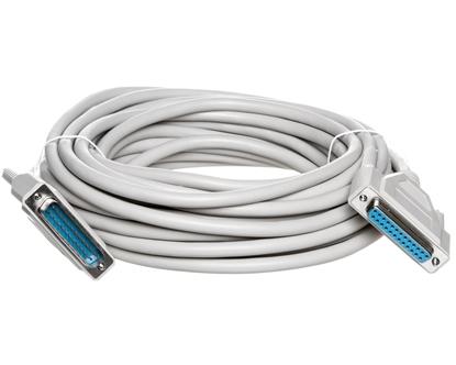 Kabel przedłużający LPT 1:1 Typ DSUB25/DSUB25, M/Ż beżowy 10m AK-610201-100-E