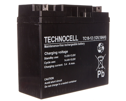 Akumulator bezobsługowy AGM 18Ah 12V Technocell 18TC