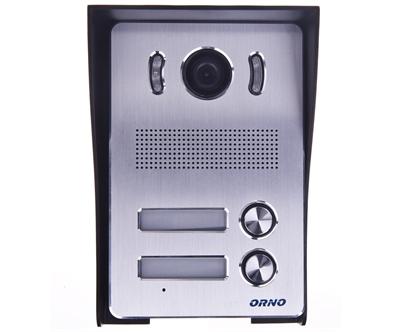 Zestaw wideodomofonowy dwurodzinny z ekranem TFT-LCD 7 cala i czytnikiem zbliżeniowym czarny ARX MULTI N OR-VID-VP-2005
