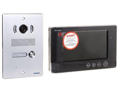 Zestaw wideodomofonowy jednorodzinny z ekranem TFT-LCD 7 cala i czytnikiem zbliżeniowym ARX P czarny OR-VID-VP-1029