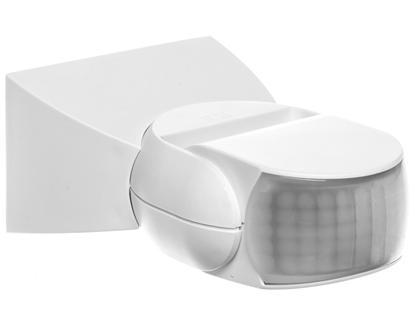 Czujnik ruchu i zmierzchu na podczerwień 10 metrów 500W 120 stopni 230-240V 50Hz IP54 biały IS 1 B 600310