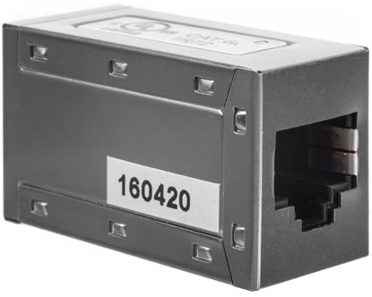 Adapter (przelotka) RJ45/RJ45 kat.6A ekranowany DN-93905
