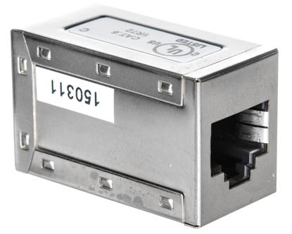 Adapter (przelotka) p/panel RJ45/RJ45 kat.6 ekranowany AT-AG 8/8 C6S