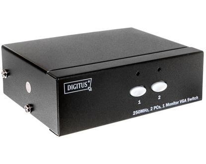 Przełącznik/Switch VGA 250MHz, 1280x1024p, 1/2-portowy DS-44100-1