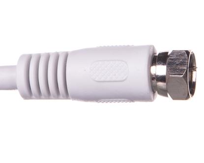 Przewód antenowy satelitarny F 1,5m biały 50737