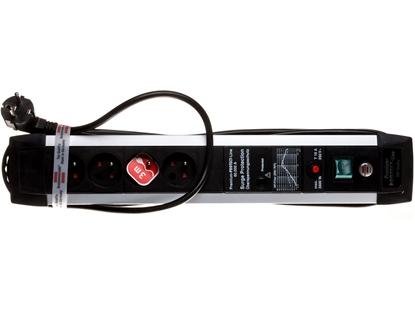 Listwa przeciwprzepięciowa Premium Protect Line 60kA 4x230V 3m H05VV-F 3G1,5 1391004604