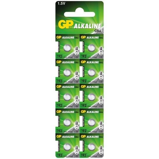 10 x bateria alkaliczna mini GP 192 / G3 / AG3 / L736 / LR41 / V3GA