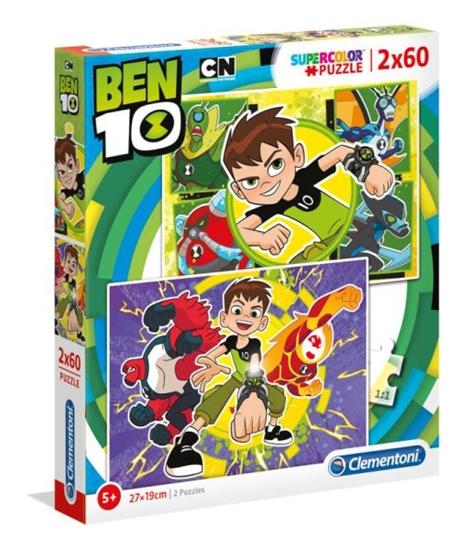 Clementoni Puzzle 2x60el Ben 10 07136 p6 (07136 CLEMENTONI)
