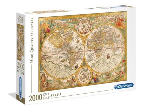 Clementoni Puzzle 2000el HQ  Ancient Map 32557 p6, cena za 1szt. (32557 CLEMENTONI)