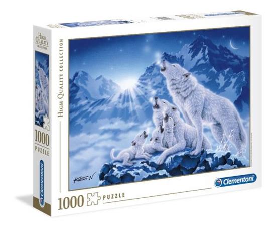 Clementoni Puzzle 1000el HQ Family of wolves 39280 p6, cena za 1szt. (39280 CLEMENTONI)
