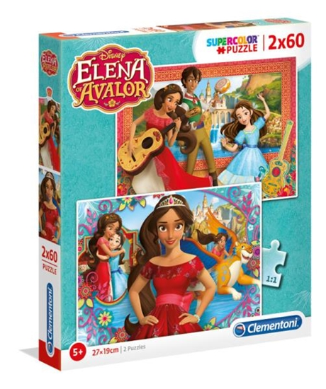 Clementoni Puzzle 2x60el Elena di Avalor 07132 p6, cena za 1szt. (07132 CLEMENTONI)
