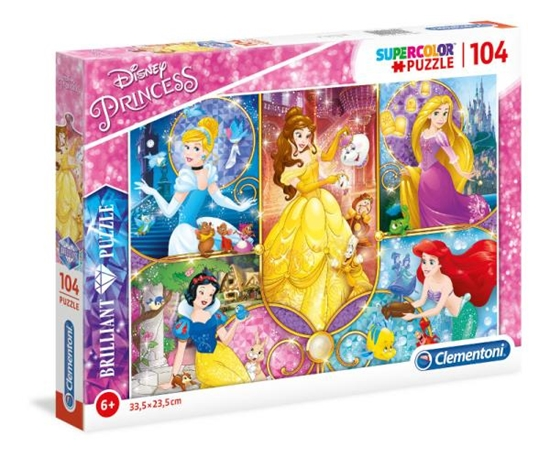 Clementoni Puzzle 104el Brillant Princess 20140 (20140 CLEMENTONI)