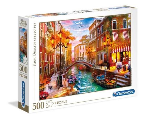 Clementoni Puzzle 500el HQ Zachód słońca nad Wenecją 35063 p6 (35063 CLEMENTONI)