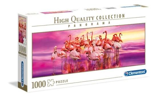 Clementoni Puzzle 1000el Panorama HQC Flamingo 39427 p6, cena za 1szt. (39427 CLEMENTONI)